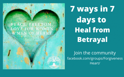 7 Ways in 7 Days to Heal from Betrayal 14-20 July 7-8p.m